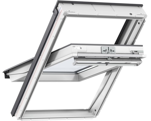 VELUX GGU UK08 0070 White PU Laminated Centre Pivot Roof Window 134x140cm