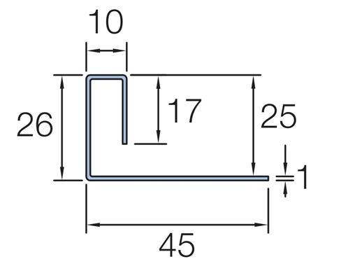 Marley Cedral Weatherboard End Profile 3m C06 Grey