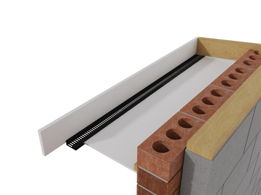 Timloc Soffit Vent Strip - Type C - 2.4m - Brown