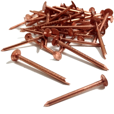 Copper Clout Nails - 38mm x 2.65mm - Pack of 420 - 1kg