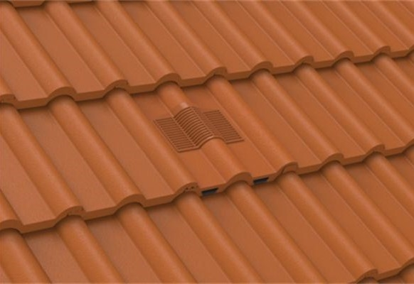 Manthorpe In Line Tile Vent - Double Roman - Dark Brown