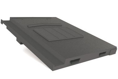 Manthorpe In Line Tile Vent - Non-Profile Tiles - Slate Grey