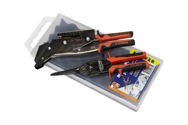 EDMA Maxi-Pro Roofer Pack - Slate Cutter with Punch & Aviation Snips