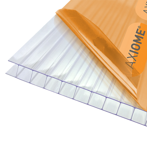 Axiome Clear Flat Twinwall Polycarbonate Sheet - 1050mm x 10mm x 4000mm