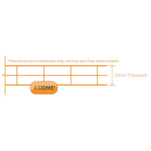 Axiome Clear Flat Triplewall Polycarbonate Sheet - 1400mm x 16mm x 5000mm