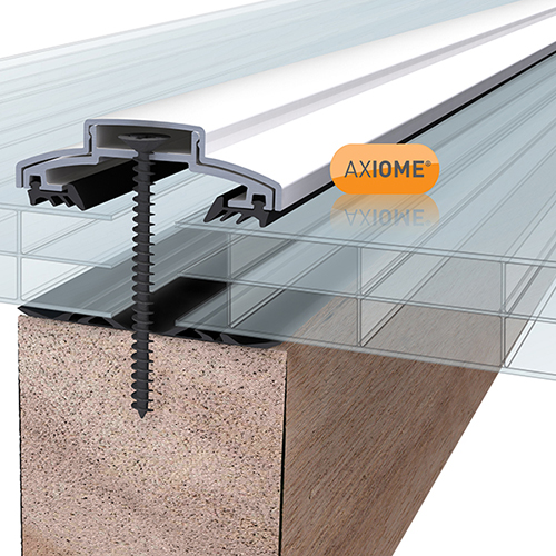 Axiome Clear Flat Triplewall Polycarbonate Sheet - 1250mm x 16mm x 2500mm