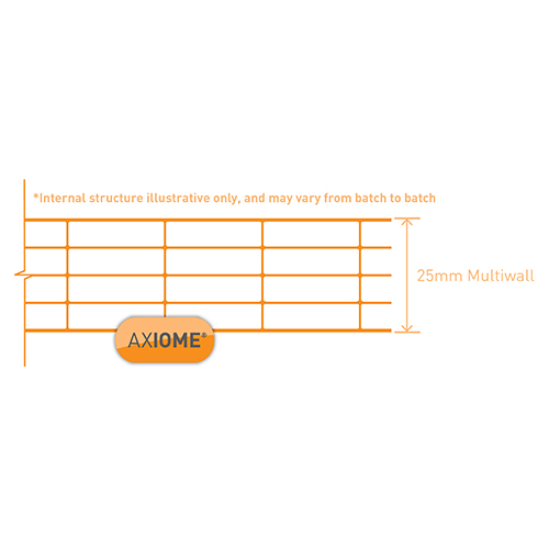 Axiome Clear Flat Multiwall Polycarbonate Sheet - 1250mm x 25mm x 5000mm