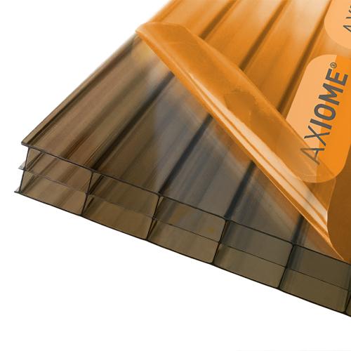 Axiome Bronze Flat Triplewall Polycarbonate Sheet 1400mm
