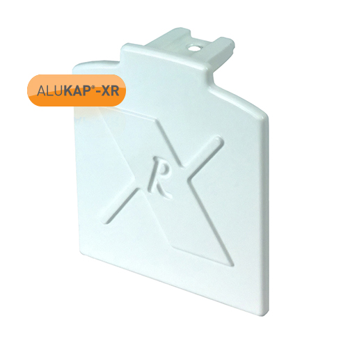 Alukap-XR System Standard Bar End Cap - White