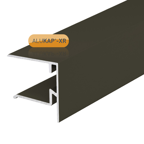 Alukap-XR System End Stop Bar - 25mm x 3.6m - Brown