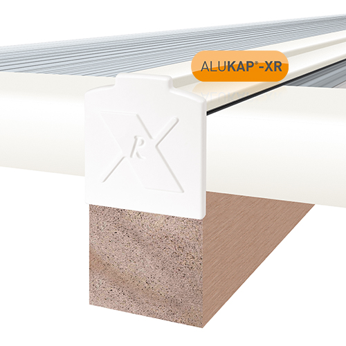 Alukap-XR System End Stop Bar - 25mm x 4.8m - White