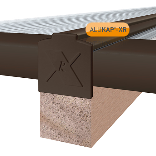 Alukap-XR System End Stop Bar - 16mm x 3m - Brown