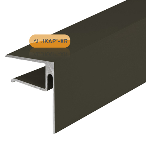 Alukap-XR System End Stop Bar - 16mm x 4.8m - Brown