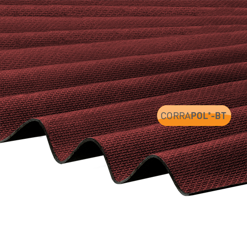 Corrapol-BT Red Corrugated Bitumen Sheet 930x2000mm
