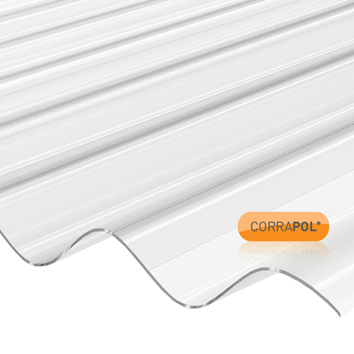 Corrapol Clear Polycarbonate Corrugated Sheet 840x1830mm