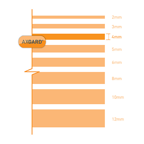 Clear Axgard Polycarbonate Sheet 1240mm x 620mm  PerspexPlasticAcrylic
