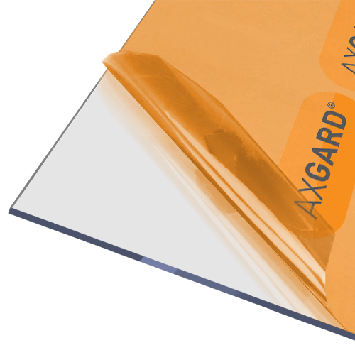 AxGARD UV Protected Clear Flat Polycarbonate Sheet - 1250mm x 4mm x 2500mm