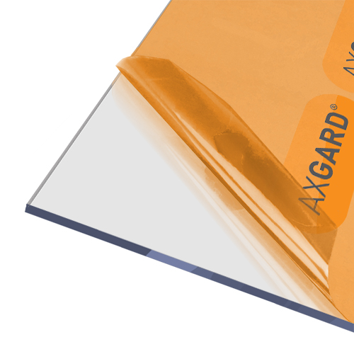 AxGARD UV Protected Clear Flat Polycarbonate Sheet - 1000mm x 5mm x 1000mm