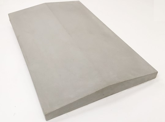 Coping Stone - Twice Weathered - 375mm x 600mm - Light Grey - Castle