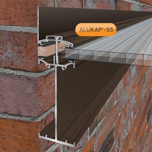 Alukap Ss High Span Wall Bar 6m Brown Roofinglines