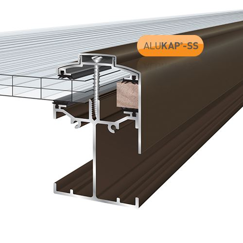 Alukap-SS Low Profile Gable Bar - 4.8m - Brown