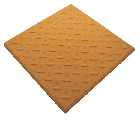 Castile GRC Checkerplate Promenade Tile - Terracotta 297mm x 297mm x 12mm