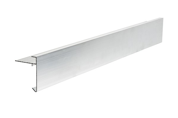 Ryno T-Trim Aluminium (Mill Finish) Roof Edge Trim - AF3-Profile - 60mm x 45mm x 3m