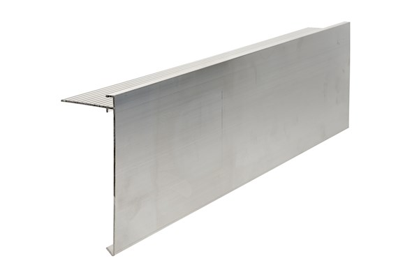 Ryno T-Trim Aluminium (Mill Finish) Roof Edge Trim - AF6-Profile - 150mm x 64mm x 3m
