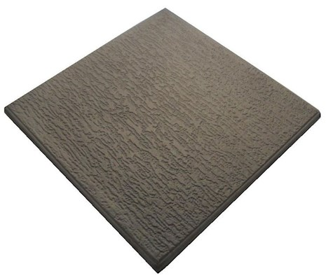Castle GRC Striated Promenade Slab - 450mm x 450mm x 38mm - Dark Grey