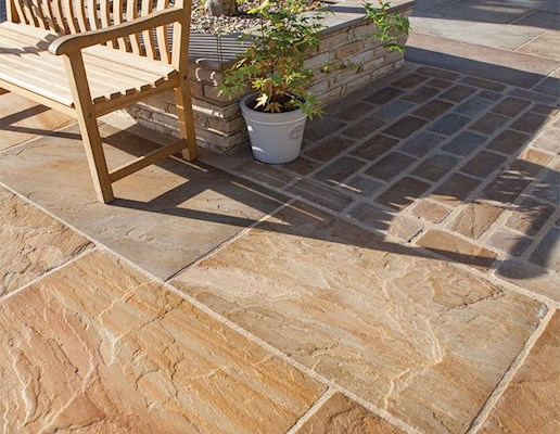 Global Stone Old Rectory Victorian Paving - Buff Brown - Project Pack