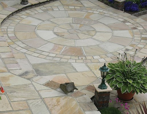 Global Stone Premium Sandstone Paving - Buff Brown - 855x570mm
