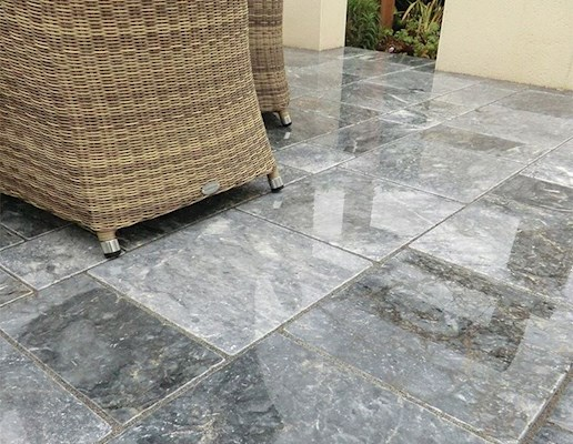 Global Stone Marble Paving - Morning Mist - Project Pack