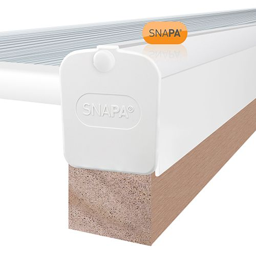 Snapa Gable Bar With End Cap - 4m - For Axiome Glazing - White