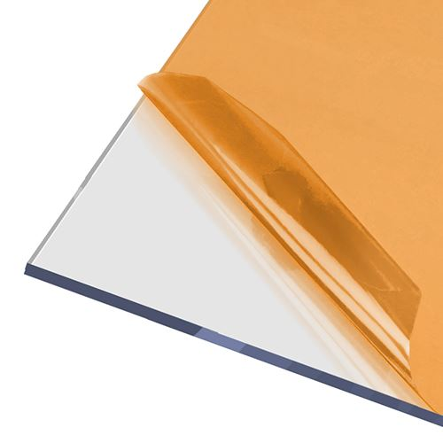 AxGARD UV Protected Clear Flat Polycarbonate Sheet - 500mm x 6mm x 500mm