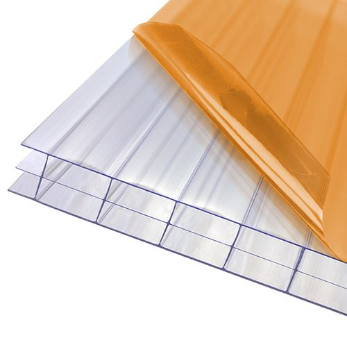 Axiome Clear Flat Triplewall Polycarbonate Sheet - 1050mm x 16mm x 4500mm