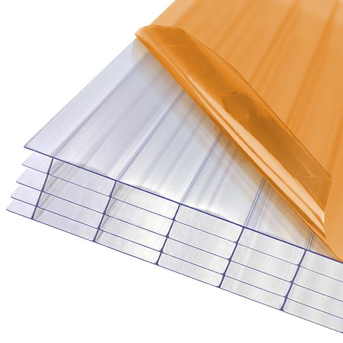 Axiome Clear Flat Multiwall Polycarbonate Sheet - 1050mm x 25mm x 4500mm