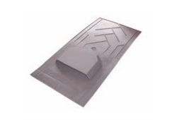 Klober Small Slate Vent with Pipe - 600x300mm / 500x250mm - Slate Grey