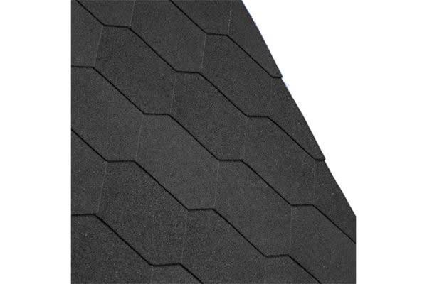 Iko Armourshield Hexagonal Shingles Black Pack Of