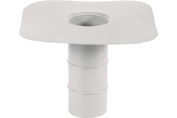 Ryno T-Pipe Flat Flange Rainwater Outlet - 75mm Diameter for PVC Single-ply Membrane