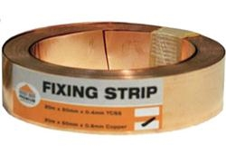 Copper Fixing Strip 2m X 25mm Roofinglines
