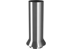 Roofart Scandic Steel Drainage Connector - Galvanised - 100mm
