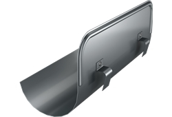 Roofart Scandic Prelaq Steel Overflow Protector - Dark Grey - 125mm