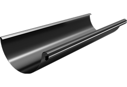 Roofart Scandic Prelaq Steel Gutter Black 125mm X