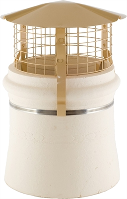 Brewer Round Birdguard - Solid Fuel - Buff Painted
