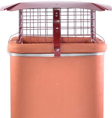 Brewer Square Birdguard - Solid Fuel - Terracotta Painted