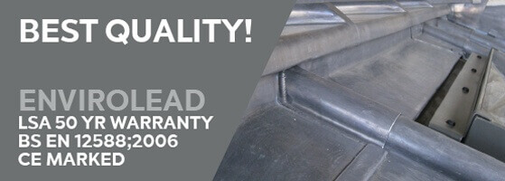 Lead LSA 50 Year warranty BS EN 12588;2006 CE marked envirolead flashing