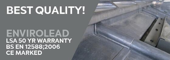 Lead LSA 50 Year warranty BS EN 12588;2006 CE marked envirolead flashing