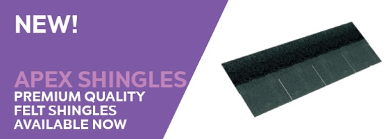 apex pitched roof felt shingles