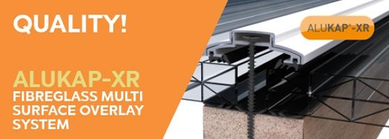 Alukap-xr fibreglass multi surface overlay roof sheets